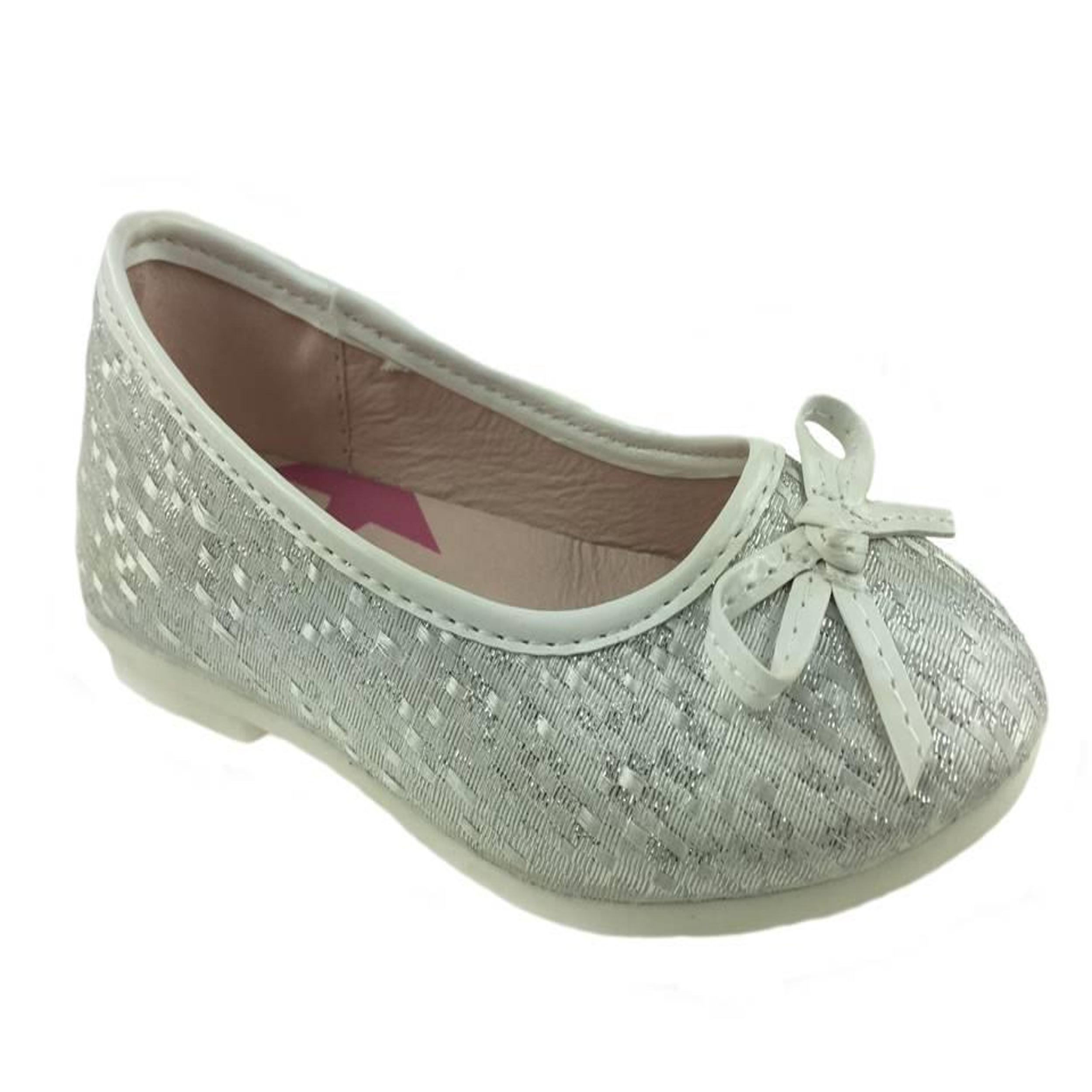 0740ed1be1b Girls Elema Glitter Ballerina Shoes UK 8.5-3 - MCFootwearLTD